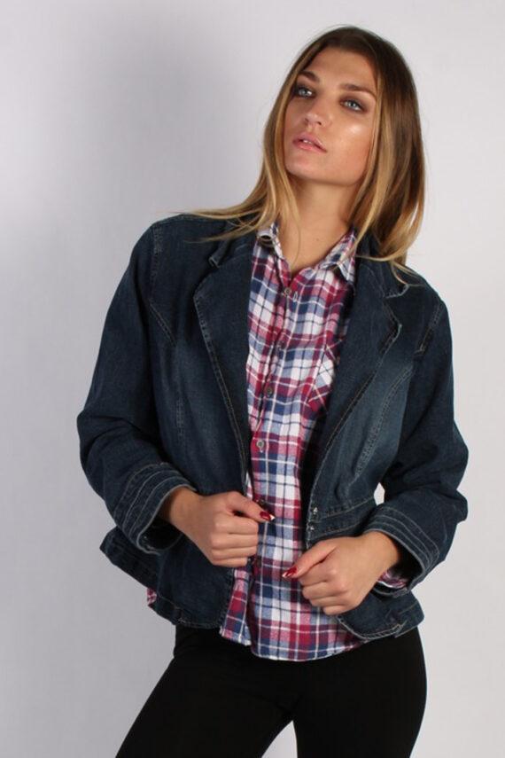 Vintage Live a Little Womens Denim Jacket XL Navy -DJ1258-0