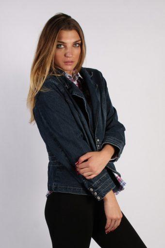 Vintage Live a Little Womens Denim Jacket XL Navy -DJ1258-53649