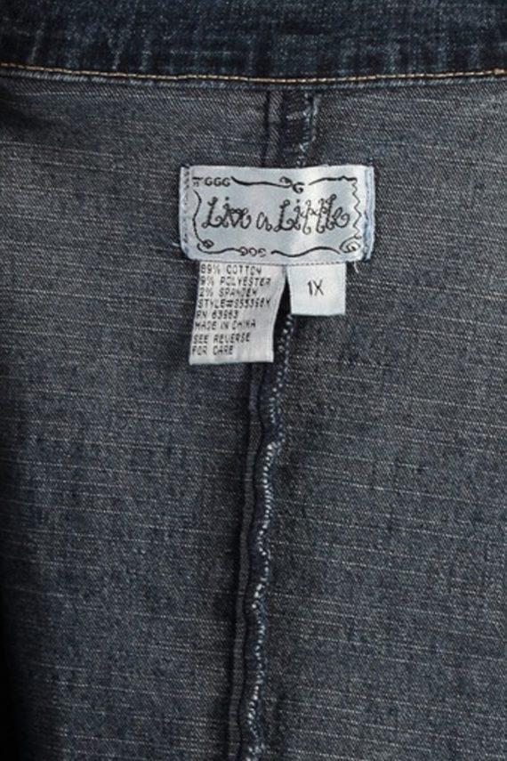 Vintage Live a Little Womens Denim Jacket XL Navy -DJ1258-53648