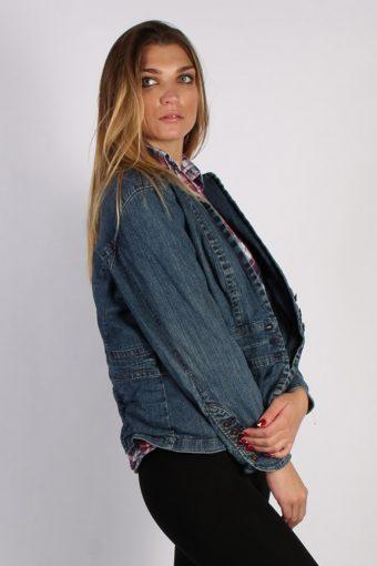 Vintage A New Aproach Womens Denim Jacket XL Navy -DJ1260-53657