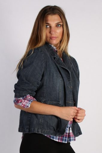 Vintage L.A. Blues Womens Denim Jacket XL Navy -DJ1264-53672