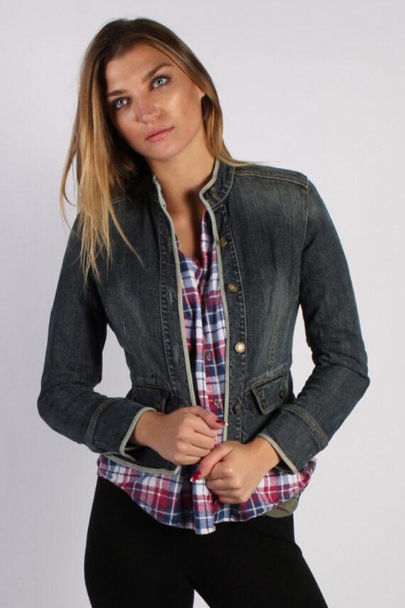 Vintage GAP Womens Denim Jacket XS/S Black -DJ1267-0