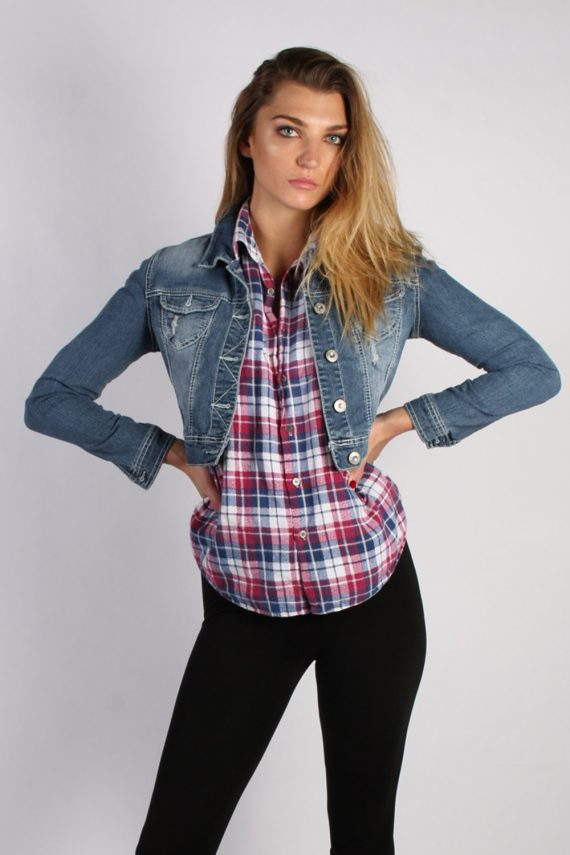 Vintage Amethyst Womens Denim Jacket S/M Navy -DJ1281-0