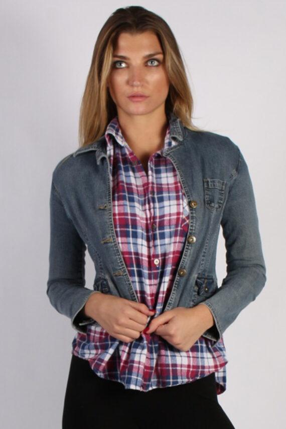 Vintage SO Womens Denim Jacket M Navy -DJ1285-0