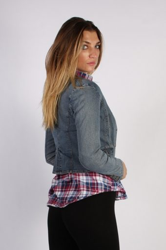 Vintage SO Womens Denim Jacket M Navy -DJ1285-53755