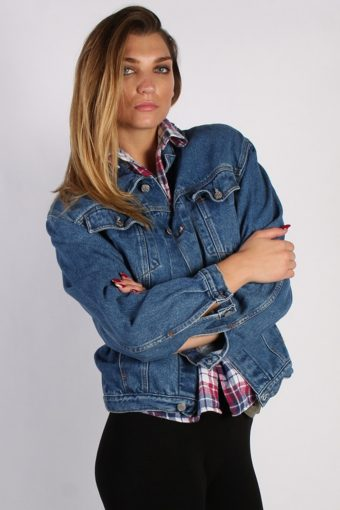 Vintage Other Brands Unisex Denim Jacket M Navy -DJ1287-53764
