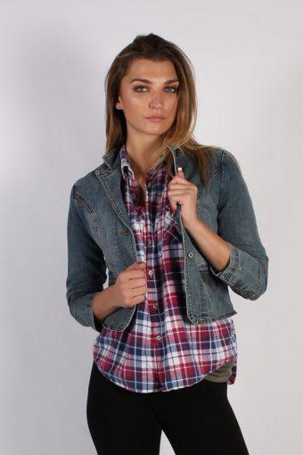 Vintage One Tuff Babe Womens Stretch Denim Jacket XL Navy -DJ1288-53770