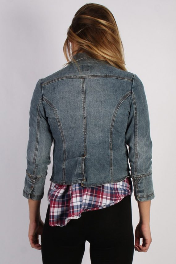 Vintage One Tuff Babe Womens Stretch Denim Jacket XL Navy -DJ1288-53768