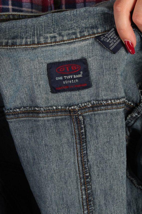 Vintage One Tuff Babe Womens Stretch Denim Jacket XL Navy -DJ1288-53769