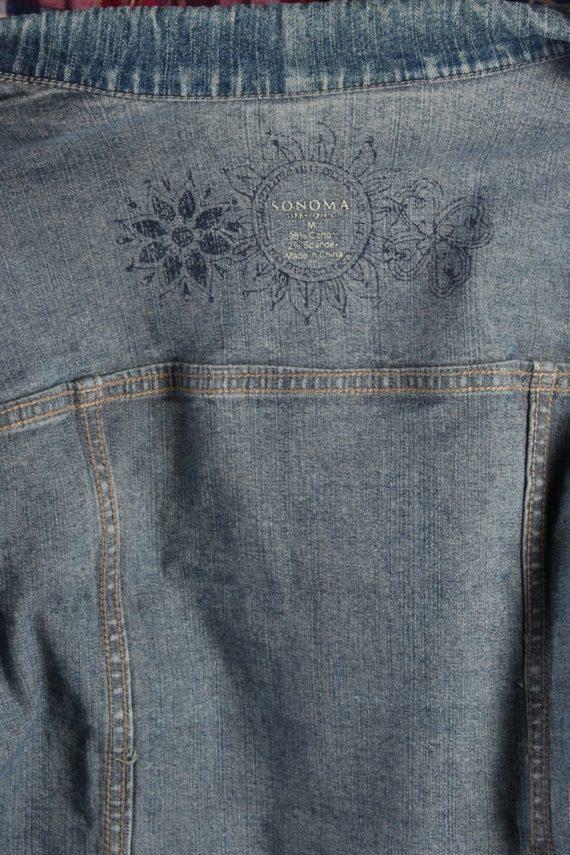 Vintage Sonoma Womens Denim Jacket M Navy -DJ1290-53778