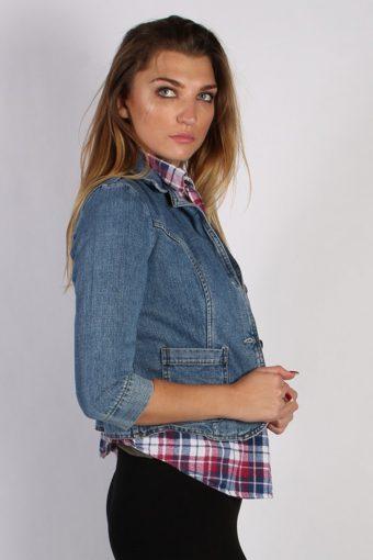 Vintage Mossimo Womens Denim Jacket M Navy -DJ1291-53780