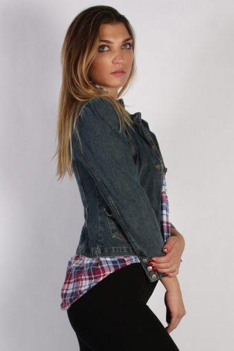 Vintage Paris Blues Womens Denim Jacket XS/S Navy -DJ1292-53783