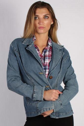 90s Retro Denim Jacket Blue L