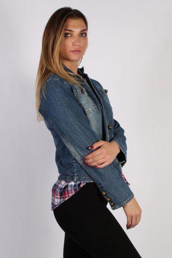 Vintage Faded Glory Womens Denim Jacket M Navy -DJ1301-53821