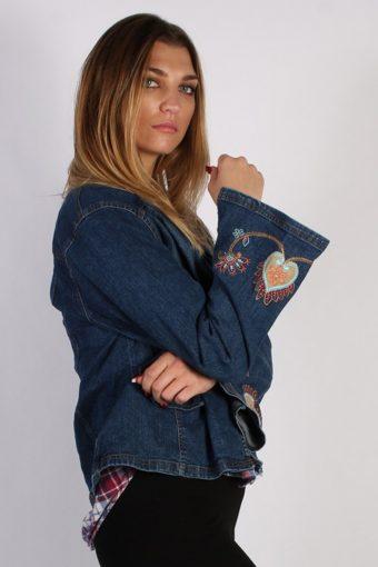 Vintage Strategy Womens Denim Jacket L/XL Navy -DJ1304-53832