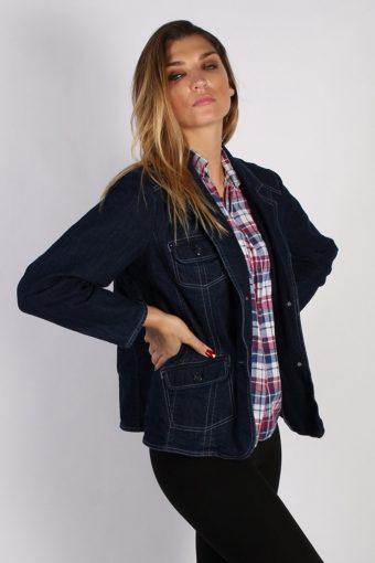Vintage D&CO Womens Denim Jacket L/XL Navy -DJ1306-53841