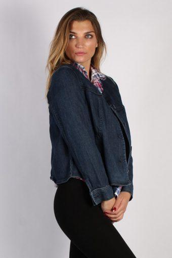 Vintage St. John's Bay Womens Stretch Denim Jacket L Navy -DJ1309-53854