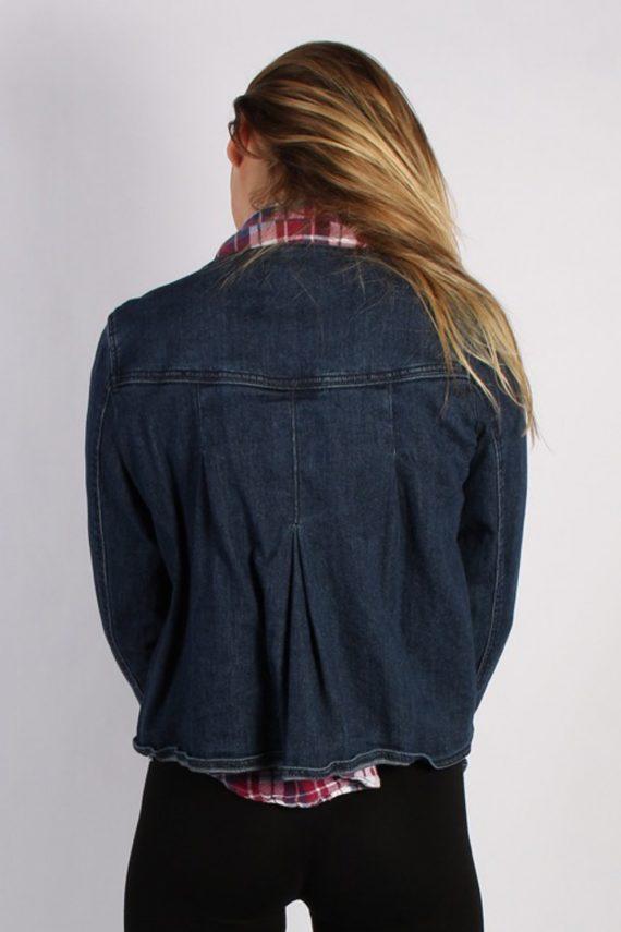 Vintage St. John's Bay Womens Stretch Denim Jacket L Navy -DJ1309-53851