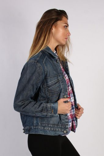 Vintage Elienne Ozeki Unisex Denim Jacket M/L Navy -DJ1316-53879