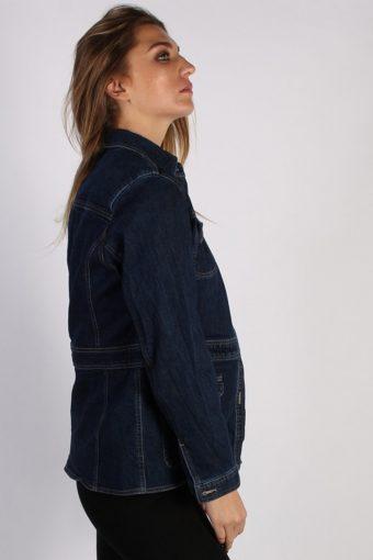 Vintage Jones Wear Womens Denim Jacket L Navy -DJ1328-53930