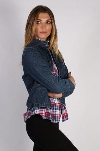 Vintage St. John's Bay Womens Denim Jacket M Navy -DJ1329-53932