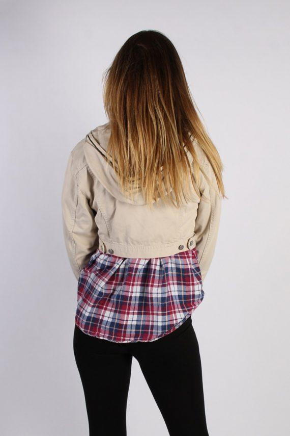 Vintage Cimarroon Womens Hoodie Denim Jacket M Beige -DJ1339-53972