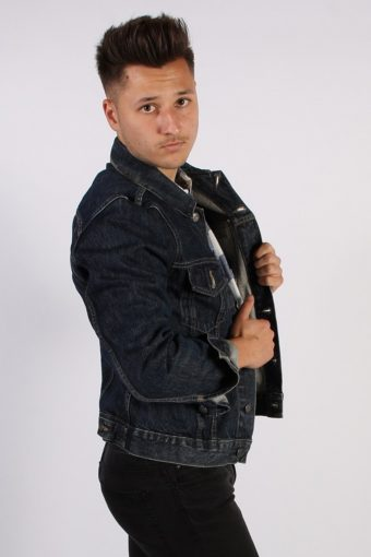 Vintage Gas Unisex Denim Jacket M Navy -DJ1347-54273
