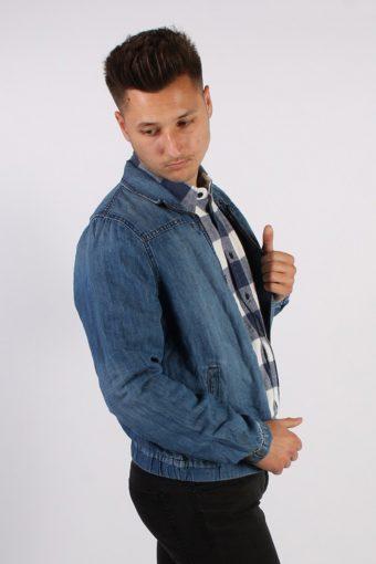 Vintage Tommy Hilfiger Lightweight Denim Shirt Jacket L Blue -DJ1353-54297