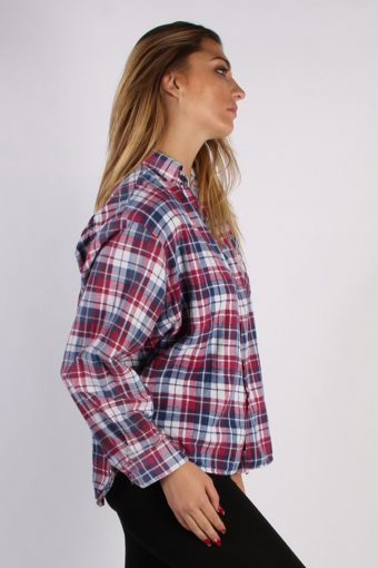 Vintage Unisex Checked Flannel Shirt - M , L Multi - SH2903-52901