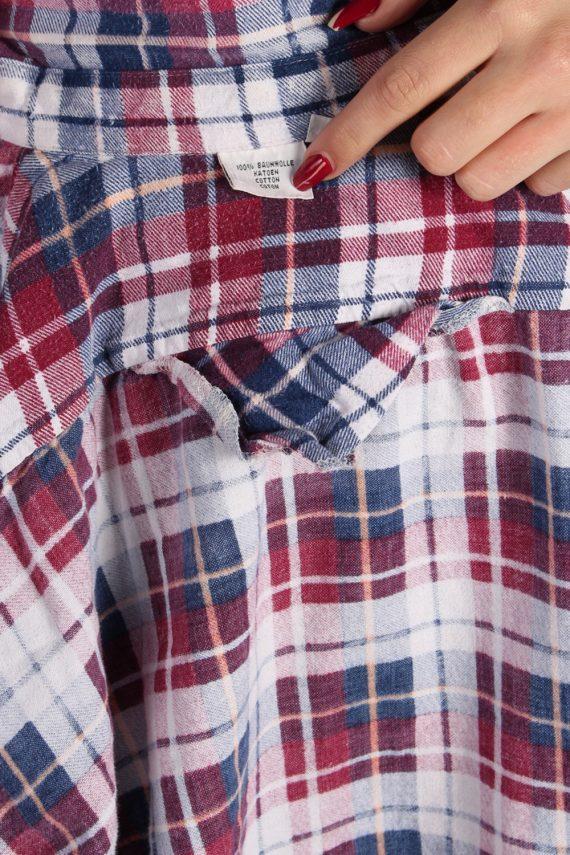 Vintage Unisex Checked Flannel Shirt - M , L Multi - SH2903-52902