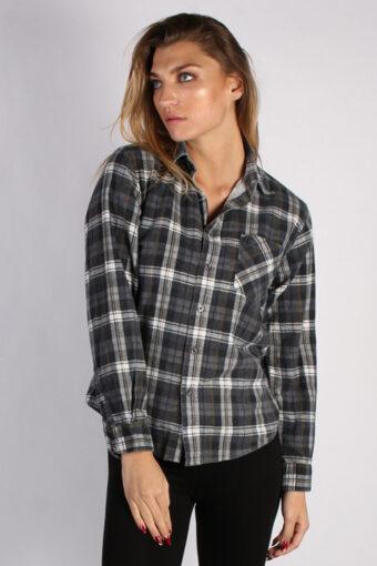 Flannel Shirt 90s Retro Grey M