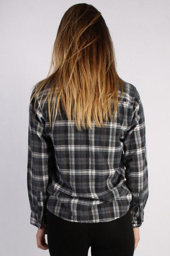 Vintage Portonova Checked Flannel Unisex Shirt - M Grey - SH2905-52911