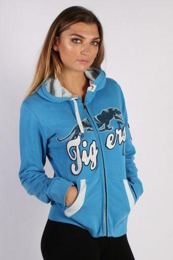 Vintage LTB Tigers Unisex Hoodie XL Blue -SW1671-53484