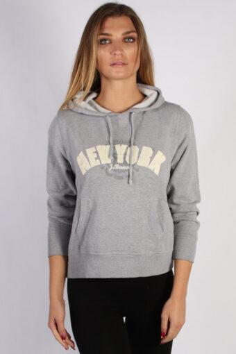 90s Hoodie Sweatshirt Retro Grey XL