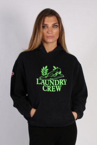 90s Hoodie Sweatshirt Retro Black L