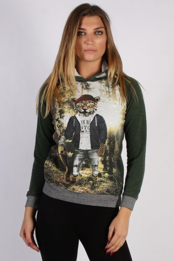 90s Hoodie Sweatshirt Retro Green 13 Years