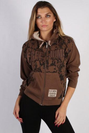 90s Hoodie Sweatshirt Retro Dark Brown 11 Years