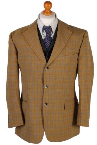 Burberry Classic Checked Blazer Jacket Mustard L
