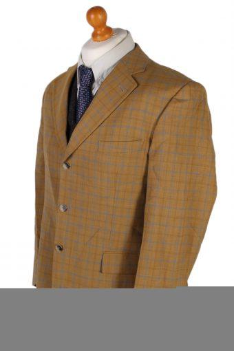 Vintage Burberry's Classic Checked Blazer Jacket - L Mustard - BR741-57243