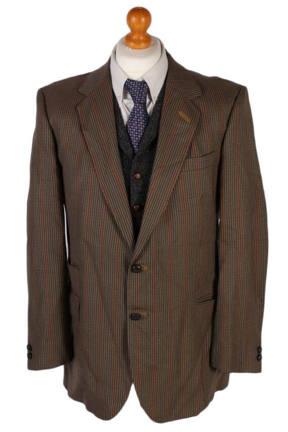 Vintage Mansfeld Exclusive Striped Blazer Jacket - L Multi - BR749-0