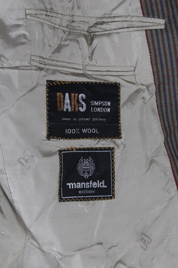 Vintage Mansfeld Exclusive Striped Blazer Jacket - L Multi - BR749-57277