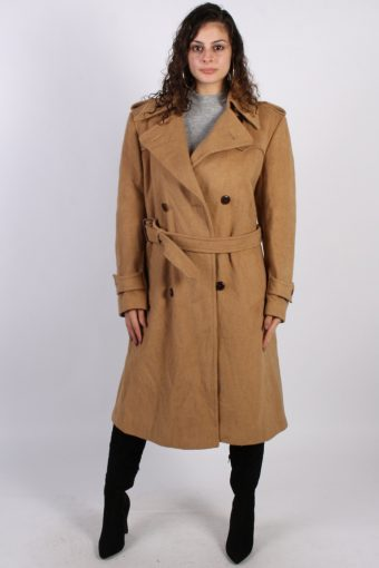 Vintage Other Brands Long Double Breasted Coat  Bust: 42 Mustard