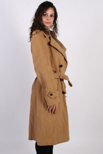 Vintage Other Brands Long Double Breasted Coat Bust: 42 Mustard -C612-56851