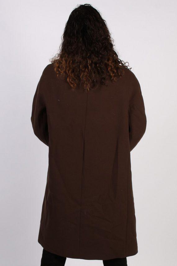 Vintage Hucke Long Fur Collar Coat Bust: 41 Brown -C616-56868
