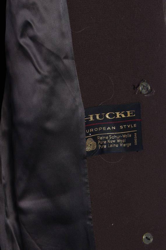 Vintage Hucke Long Fur Collar Coat Bust: 41 Brown -C616-56869