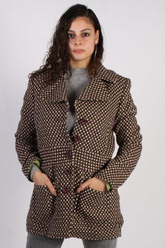 Vintage Esprit 90s Pattern Coat  Bust: 39 Multi