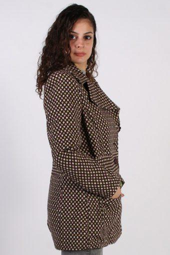 Vintage Esprit 90s Pattern Coat Bust: 39 Multi -C617-56871