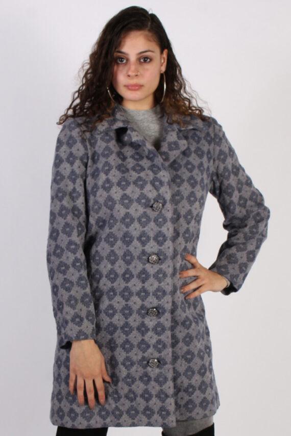 Vintage Other Brands 90s Pattern Coat Bust: 39 Purple -C622-0