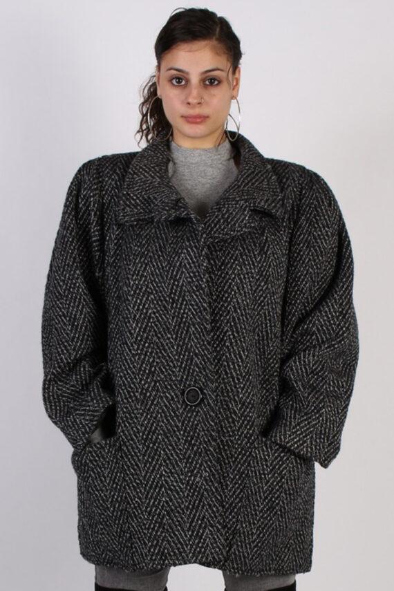 Vintage Other Brands Pattern Herringbone Coat Bust: 47 Multi -C626-0