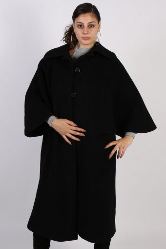 Vintage Other Brands Angel Sleeveless Coat  Bust: 45 Black